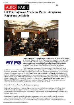 OYPG, Bağımsız Yenileme Pazarı Araştırma Raporunu Açıkladı