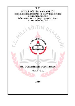 tc millî eğitim bakanlığı 2016