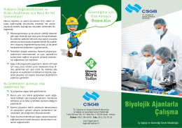 Biyolojik Ajanlarla Çalışma - Çalışma ve Sosyal Güvenlik Bakanlığı