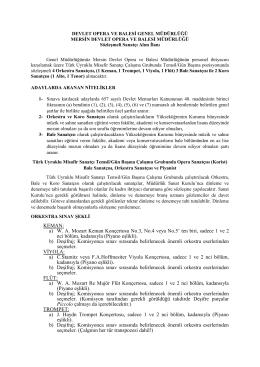 KEMAN: a) WA Mozart Keman Konçertosu No.3, No.4 veya No.5` ten