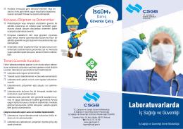 Laboratuvarlarda - Çalışma ve Sosyal Güvenlik Bakanlığı
