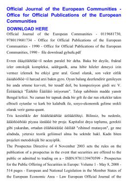 Official Journal of the European Communities