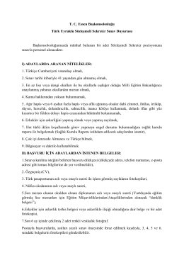 TC Essen Başkonsolosluğu Türk Uyruklu Sözleşmeli Sekreter Sınav
