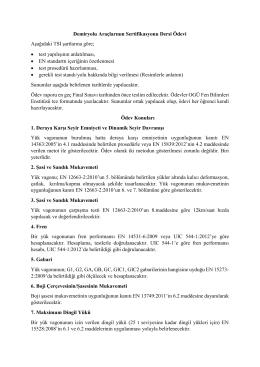 Demiryolu Araçlarının Sertifikasyonu Dersi Ödevi Aşağıdaki TSI