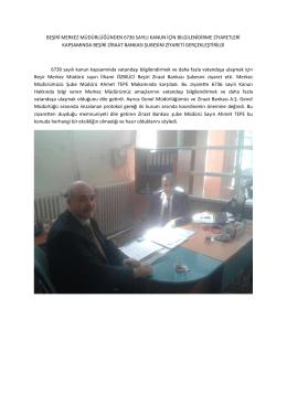 beşiri merkez müdürlüğünden 6736 sayılı kanun için
