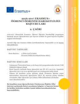 ERAS MUS+ - Galatasaray Üniversitesi