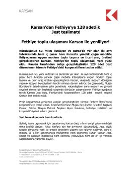 Karsan`dan Fethiye`ye 128 adetlik Jest teslimatı! Fethiye toplu