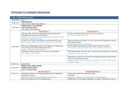 tıptekno`16 kongre programı