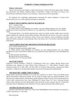 başkan adayı - Türkiye Güreş Federasyonu