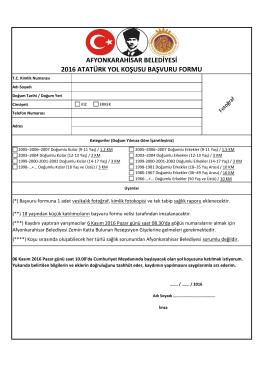 afyonkarahisar belediyesi 2016 atatürk yol koşusu başvuru formu