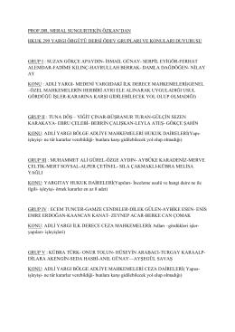 yargı örgütü ödev konu ve gruplları