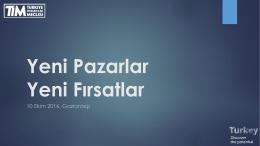 """Dr.H.Bader ARSLAN`ın """"Yeni Pazarlar, Yeni Fırsatlar"""""""