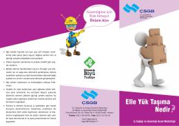 Elle Yük Taşıma Nedir - Çalışma ve Sosyal Güvenlik Bakanlığı