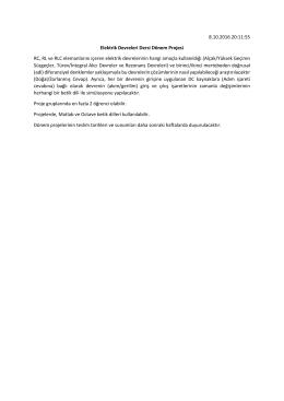 8.10.2016 20:11:55 Elektrik Devreleri Dersi Dönem Projesi RC, RL