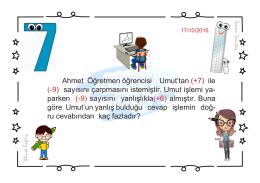 Ahmet Öğretmen öğrencisi Umut`tan (+7) ile (