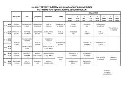 Destekleme ve Yetiştirme Kurs Planı 2016-10
