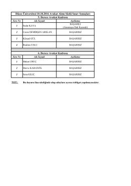 12 Eki - Düzce Üniversitesi