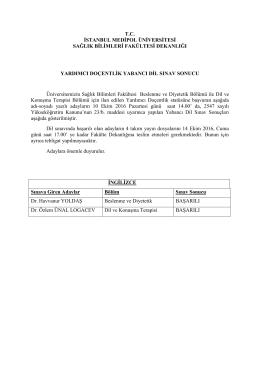 tc istanbul medipol üniversitesi sağlık bilimleri fakültesi dekanlığı