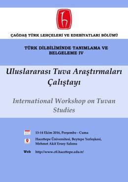 Uluslararası Tuva Araştırmaları Çalıştayı