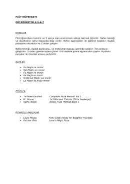 FLÜT MÜFREDATI ORTAÖĞRETİM 4-5-6