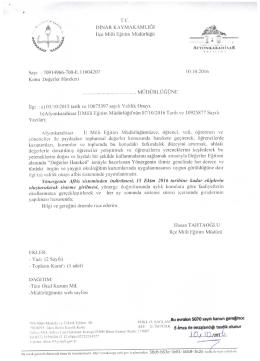 ilgi yazı için tıklayınız - dinar ilçe millî eğitim müdürlüğü