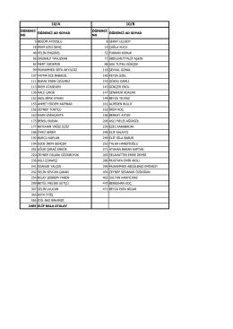 10.Sınıfların Kurs Öğrenci Listesi