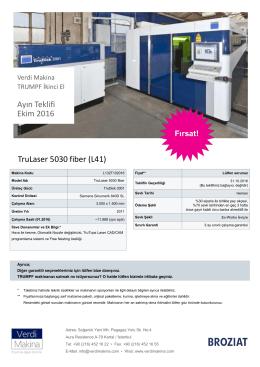 TruLaser 5030 fiber TruDisk 3001