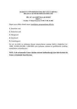 BIL 367 ÖDEV-1 - Başkent Üniversitesi