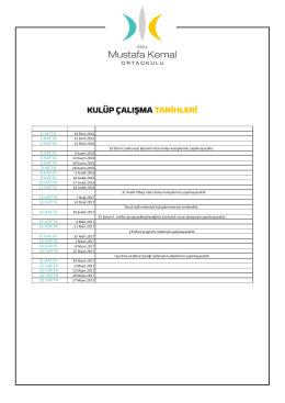 Kulüp Planlama - Mustafa Kemal Okulları