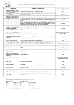 Hizmet Standartları - Düzce Üniversitesi