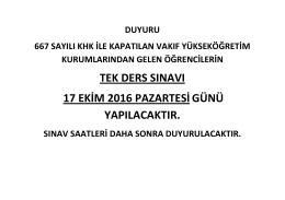şifa üniversitesi öğrencileri duyuru_1