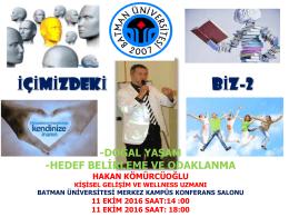 Slayt 1 - Batman Üniversitesi