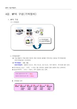 강 의 구성 기억장치 4 . WP ( )
