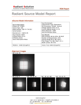 Radiant Source Model Order Form