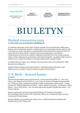 biuletyn - Klub Absolwentów UW