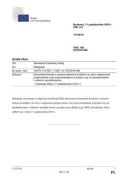 13139/16 dh/mk 1 DG G 2B Delegacje otrzymują w załączeniu
