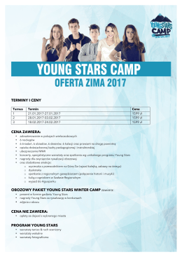 Oferta Young Stars Winter Camp 2017