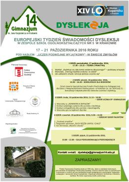 zobacz plakat informacyjny - Gimnazjum nr 14 w Krakowie