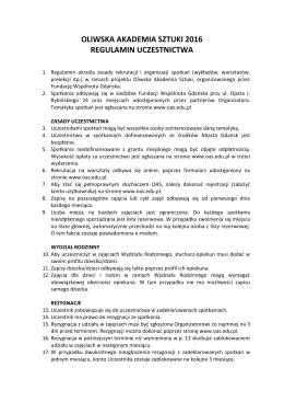 Regulamin - Oliwska Akademia Sztuki
