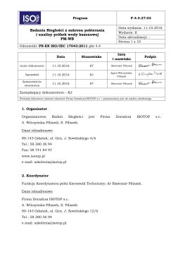 Program - Firma Doradcza ISOTOP sc