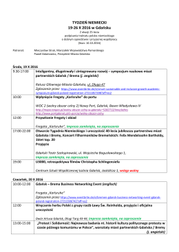 TYDZIEŃ NIEMIECKI 19-26 X 2016 w Gdańsku