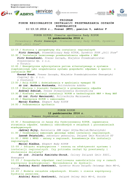 Forum RIPOK 2016 - program do druku