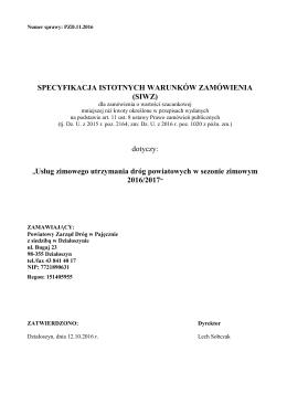 kosztorys ofertowy - powiatowy zarząd dróg w pajęcznie z siedzibą