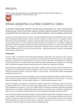 policja.pl sprawa zabójstwa 23