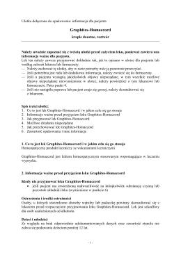 Graphites-Homaccord - Wyszukiwarka produktów leczniczych