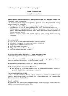 Drosera-Homaccord - Wyszukiwarka produktów leczniczych