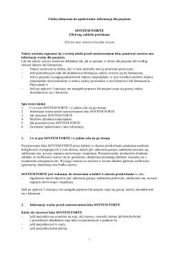 Informacja o leku dla pacjenta - Wyszukiwarka produktów leczniczych