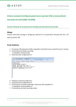 Informator techniczny - Platforma Internetowa ASTOR.