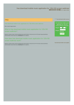 free mobile music application for 120x160 screen walkman