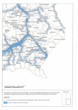 Wizualizacje map zagrożenia i ryzyka powodziowego dla obszaru